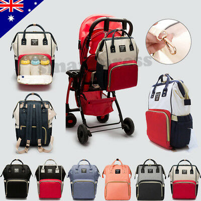 Waterproof Large Mummy Nappy Diaper Bag Baby Changing Nursing Travel Backpack
