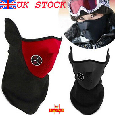UK Motorbike Cycling Half Face Mask Dust Pollution Filter Windproof Veil Sport