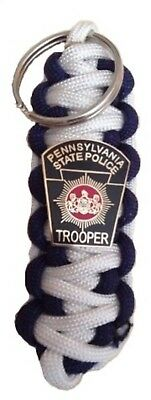Pennsylvania State Police Shield Paracord  Keychain