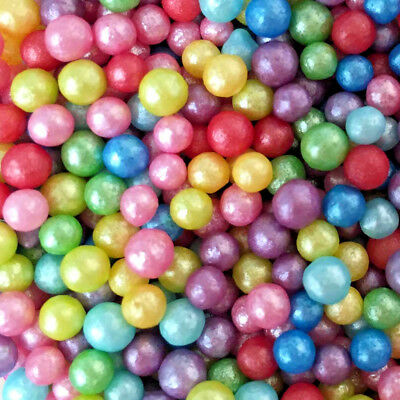 Glimmer Rainbow Pearls 4mm Edible Pearls Balls Dragee Unicorn Party Glitter