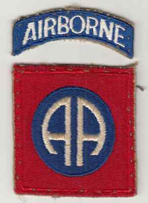 Vintage 82nd Airborne Shoulder Patch, Paratrooper Insignia