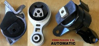 9R3150 3pc Motor Mounts fit 3.0L FWD AWD 2010-2012 Ford Fusion AUTOMATIC Trans