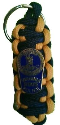 Virginia State Police Shield Paracord  Keychain