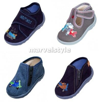 Baby Boys Canvas Shoes - Nursery Slippers - First Shoes Uk 3-8 / Eur 20-26