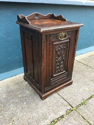 Antique coal scuttle - coal box #1727C