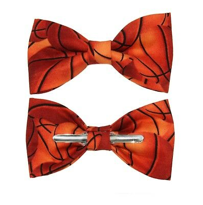 New Basketball Clip-On Cotton Bow Tie - Choose Men's or Boys Bowtie