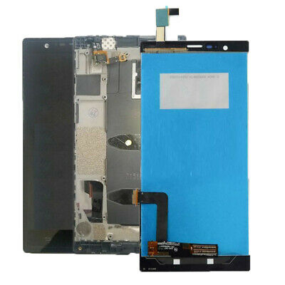 OEM ZTE Lever LTE Z936L LCD Display Touch Screen Digitizer Glass Frame Assembly