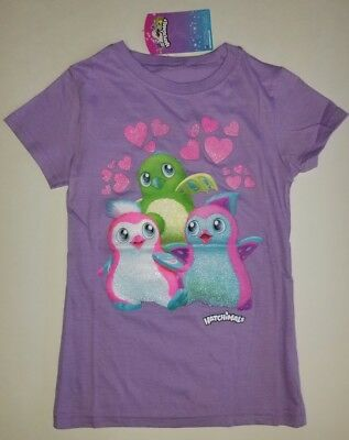 NWT Girls' Hatchimals Friends with Hearts Cotton T-shirt small 4/5