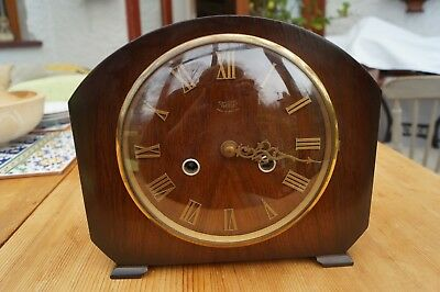 Small SMITHS ENFIELD mantel clock with time strike.
