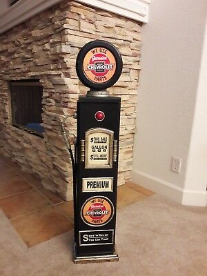 """42"""" Chevrolet Gas Pump Cabinet with light. Mancave/Gameroom."""