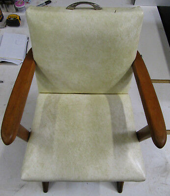 Vintage Mid Century Children's Platform Upholstered Rocker Rocking Chair