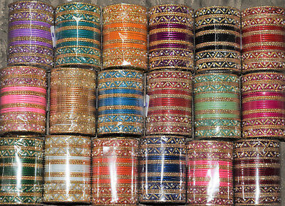 Bollywood Indian Kids Bangles/Ages 1-8 yrs/18 Colours/Set of 24/Girls Children