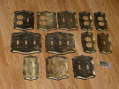 12 Vintage AMEROCK Switch & Outlet Cover Plates