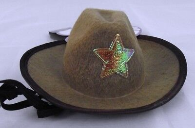 Cowboy Hat Small/Medium Dog Halloween Pet Costume Brown Rubies Costume Sheriff