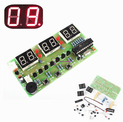 1 Set C51 6-Bits Digital Electronic Clock Electronic Production Suite DIY Kits