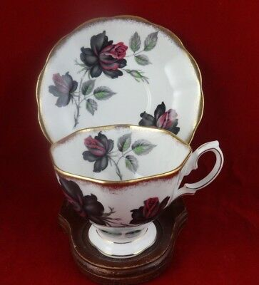 Royal Albert Masquerade Heavy Gold Tea Cup & Saucer Vintage England Bone China