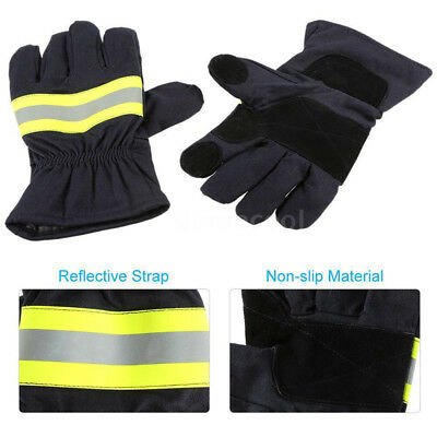 Pair Fire Protective Gloves Anti-fire Fire Proof Waterproof Heat-proof Gloves