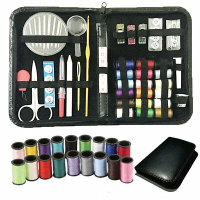 58pcs Sewing Accessories Needles Scissors Kit Travel Thread Tape Sewing Tools