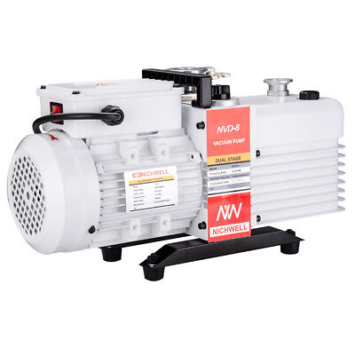 NICHWELL Vacuum Pump NVD-8 5.6 cfm Corrosion-Resist Commercial Grade 2-Stage