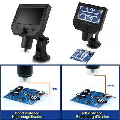 1-600x 3.6MP LCD digitale elettronico microscopio portatile schermo OLED HD 4.3""