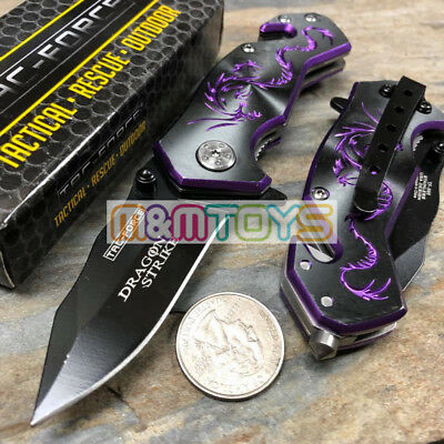 TAC-FORCE Purple Dragon Small Rescue Survival Pocket Knife TF-686BP