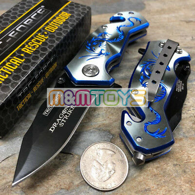 TAC-FORCE Blue Dragon Small Rescue Survival Pocket Knife TF-686GY