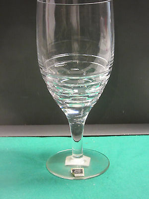 "Miller-Rogaska Island fine crystal 1-ice tea 8 1/2""tall, 3 1/2""top new hand cut"