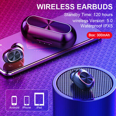 Bluetooth 4.2 Headphones Earbuds Headset Wireless Stereo In-Ear Earphones