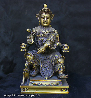 Chinese Folk Traditional Culture Brass Bronze statue Custodian General