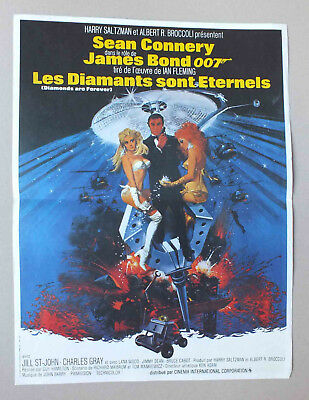Affichette 56 X 42 Cm Du Film Les Diamants Sont Eternels - James Bond - 149