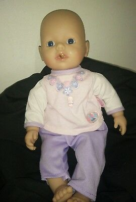 Zapf Creations My First Baby Annabell Drinks & Wets Little Baby Born Doll 34cm