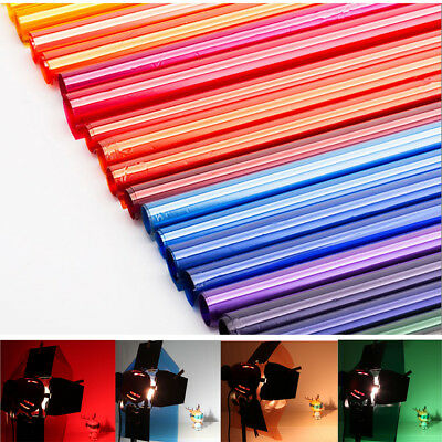 "Colors Lighting Filter Gel Sheets 16x20"" 40x50cm For Photo Camera Studio Lamp"