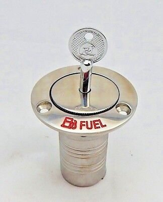 """Boat Deck Filler WATER  2/"""" Angled 30 deg  316 Stainless Pop out"""