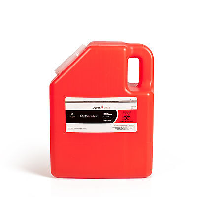 2-Gallon Sharps Container, Case of 8. Sharps Disposal Boxes.