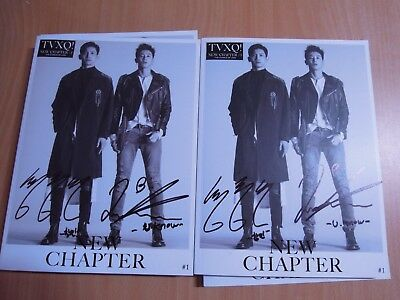 TVXQ - New Chapter #1 : The Chance of Love (8th promo) with Autographed (Signed)