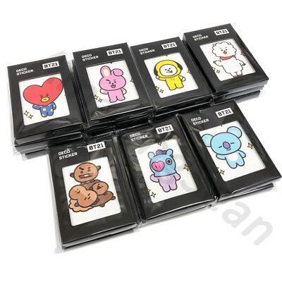 OFFICIAL BT21 DECO STICKER 32 Sheets, BTS X MONOPOLY TATA COOKY CHIMMY AUTHENTIC