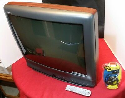 "Vintage RCA 27"" CRT Television TV Model F27240WT w/Remote, PS and RF Modulator"