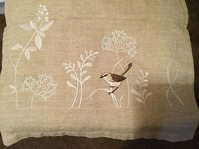 Linen Embroidered Table Runner