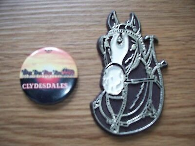 Budweiser Clydesdale Hitch Draft Horse Magnet Lot Of 2