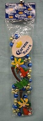 Corona EXTRA 2007 PARTY Beads Parrot Palm TREE Cerveza NECKLACE Mexico COLLECT