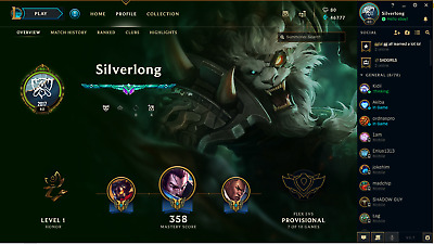 League Of Legends Account With All Champions And Over 125 Skins