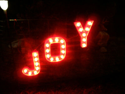 LIGHTED * JOY *  CHRISTMAS SIGN INDOOR or OUTDOOD DISPLAY