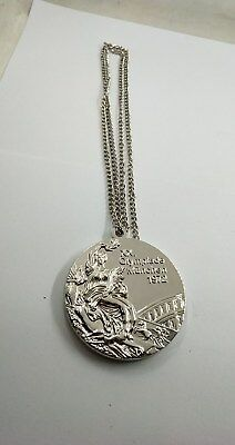 1972 Germany Munich Olympic 'Silver' Medal with Display Stand !!!