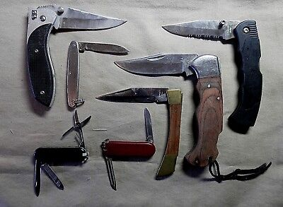 vintage knife lot of 7 collectible knives