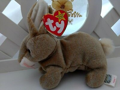 TY Beanie Baby ~ NIBBLY Easter Bunny Rabbit ~ NWT Retired