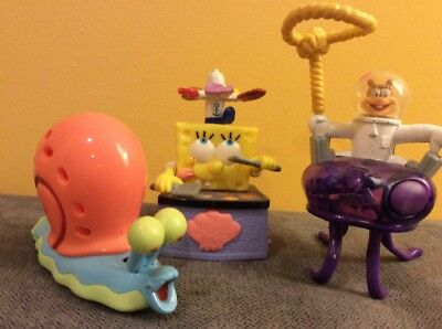 SpongeBob Square Pants and Friends Burger King Toys 2001 - Set of 3