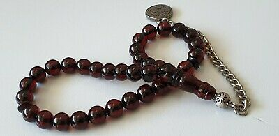Cherry Natural Baltic Amber Islamic Prayer Beads Bernstein Gebetskette Kehribar