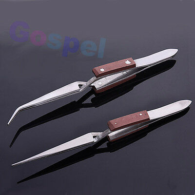 DIY Cross Loking Lock Tweezers Self Closing Jewelry Soldering Craft Repair Tools