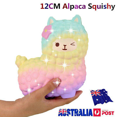 12CM Jumbo Squishy Squeeze Alpaca Slow Rising Cream Scented Kid's Gift Toy MN