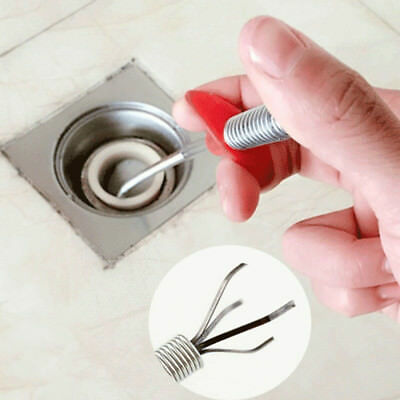 Drain Snake Clog Remover Hair Cleaning Plumbing Pipe Sewer Bathroom Kitchen Tool